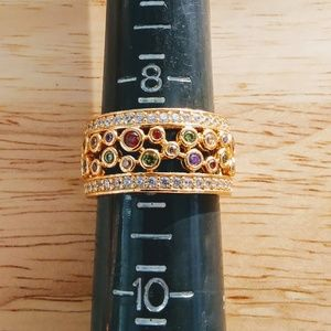 Jewelry - Multi Gemstone Band Set in Sterling Very Sparkley